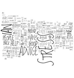 advice to help people to reduce stress text word vector image vector image