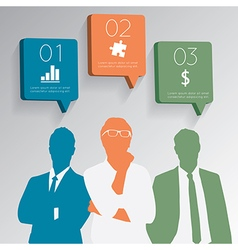 businessman with chat icons speech bubbles vector image vector image