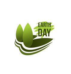 Earth day planet ecology conservation icon vector