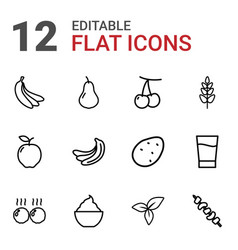 12 fresh icons vector image