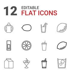 12 juice icons vector