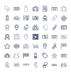 49 tag icons vector