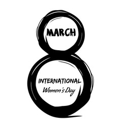 8th march international womens day grunge design vector
