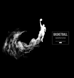 abstract silhouette of a basketball player vector image