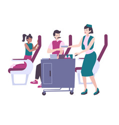 Airplane lunch vector