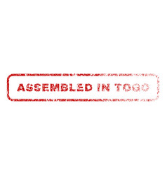 Assembled in togo rubber stamp vector