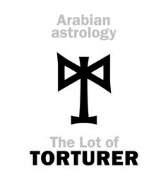 Astrology lot of torturer executioner vector