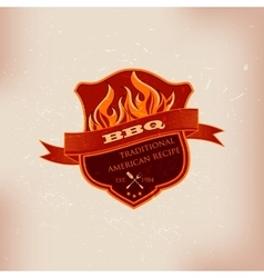 BBQ barbecue logo emblem design vector