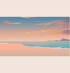 beautiful beach summer background tropical vector image