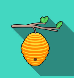 Beehive icon in flat style isolated on white vector