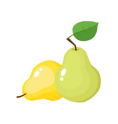 bright of juicy pears isolated vector image