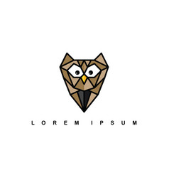 Brown owl logo logotype theme vector