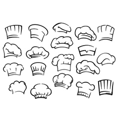 Chef toques and hats set vector image