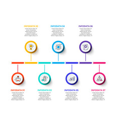 Circle business graphic elements business process vector