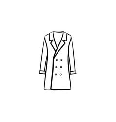 Coat hand drawn sketch icon vector