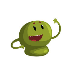 cute cartoon green monster character with funny vector image