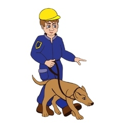 Dog trainer on a white background vector
