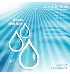 drop design vector image