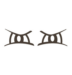 Evil comic eyes expression vector