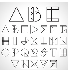 Font ABC in geometric style vector image