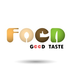 Food Icon Logo Word Icon Logo Abstract Icon Logo vector image