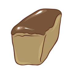 freshly baked rye bread vector image