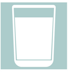 Glass with fluid the white color icon vector