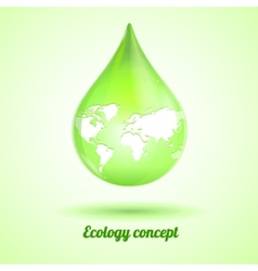 Green drop Ecology concept vector