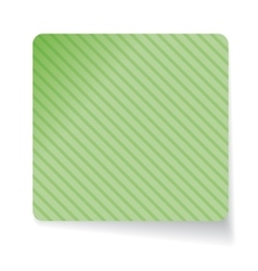 Green paper sticker vector image
