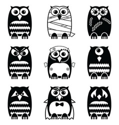 Halloween owls vector