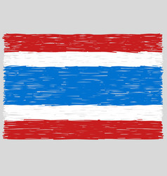 Hand drawn thai flag vector