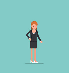 happy face businesswoman working character design vector image