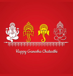 happy ganesh chaturthi festival background vector image
