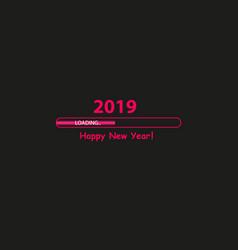 Happy new year 2019 with progress bar vector