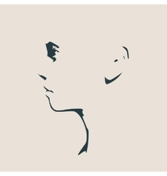 Head silhouette Face profile view vector