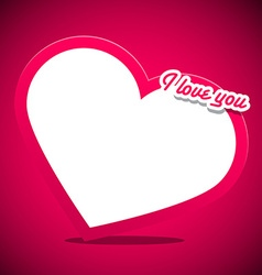 Heart with I Love You Title on Pink Background vector