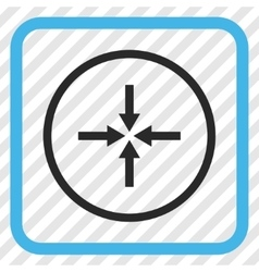Impact Arrows Icon In a Frame vector