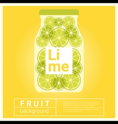 Infused water fruit recipe with lime vector image