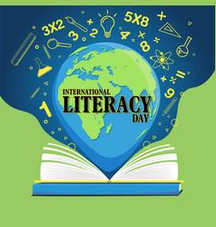 international literacy day vector image