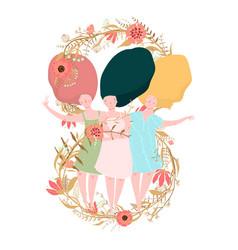 international women day card design vector image