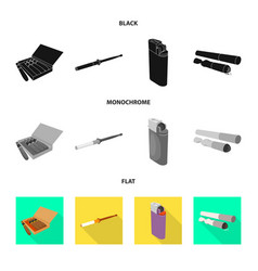 isolated object accessories and harm logo set vector image