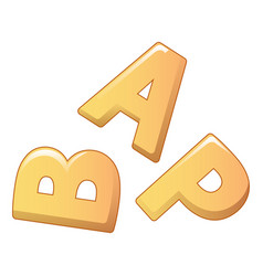 letter pasta icon cartoon style vector image