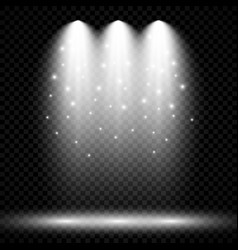 Lighting with spotlight illumination effects vector