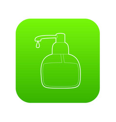 liquid soap icon green vector image