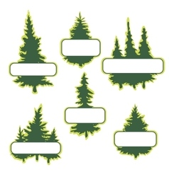 logo templates with trees vector image