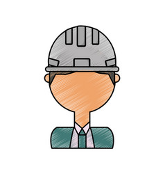 man engineer vector image