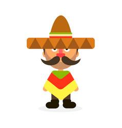 mexican man sombrero vector image