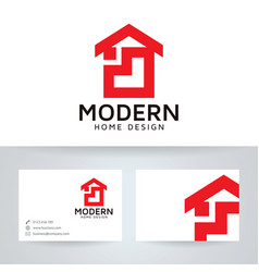 Modern home design logo template vector
