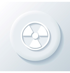 Nuclear 3D Paper Icon vector