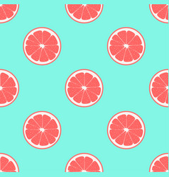 pattern with grapefruit vector image